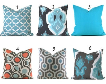 Pillow Covers ANY SIZE Decorative Pillow Cover Blue Pillows  Premier Prints You Choose