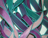 """Balloons 42"""" hand dyed silk wrist wrap bracelet  ribbon//Yoga wrist wrap bracelet ribbons//Silk wrist wrap ribbon// By Color Kissed Silk"""