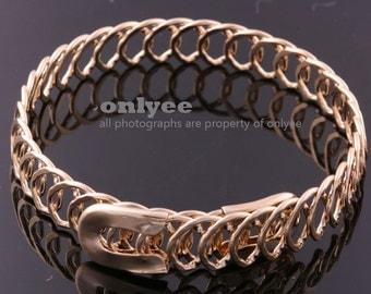 10PCS-10mm Free Size Bright Gold Plated Brass Wire Bangles,Chain Bracelet of Deco Bracelet (E372G)