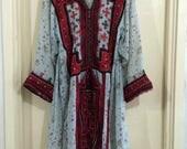 Gypsy vintage dress, tribal tunic, Indian dress, Mexican, kaftan, costume, Balochi dress, Afghani dress, vintage dress [No.7]