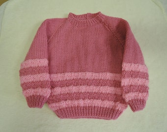 Baby Toddler jumper Unique Hand Knitted 20 Inch 12 Months