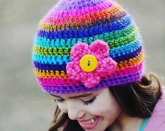 Crochet Hats, Crochet Hat Pattern, Crochet Hats For Women, Crochet Hats For Kids, Crochet Hat, Crochet Patterns, Flower Hat Patterns