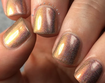 The Monsters Are Due On Maple Street - Multi Chrome Chameleon - Linear Holographic - Copper Gold Nail Polish
