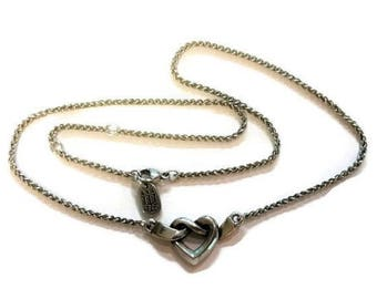 James Avery Sterling Silver Heart Knot Necklace