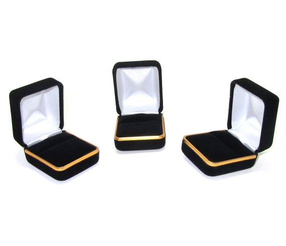Wholesale black velvet ring box wholesale supplies ring for Wholesale craft supplies for resale