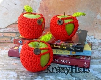 Crochet Apple Cozy.