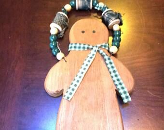 hand made wooden gingerbread men