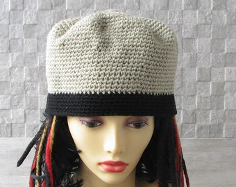 Crochet  Kufi hat African hat Kufi African Hat African Style Dread Accessories