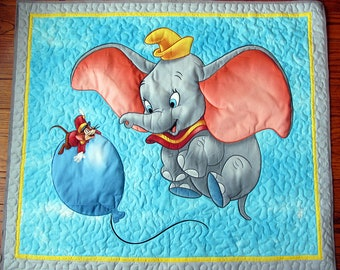 Dumbo Quilt. Disney quilt, Child quilt, Lap Quilt, Wall Hanging, (B-87) Baby Blanket, Baby Quilt, Timothy Q. Mouse