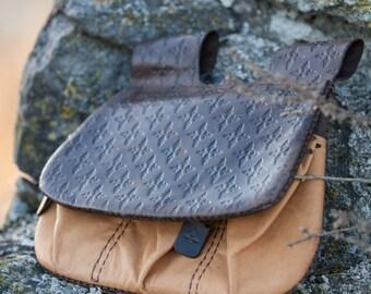 """Medieval Leather Bag """"Hound of War""""; Purse; Pouch; Bag; Belt Bag"""