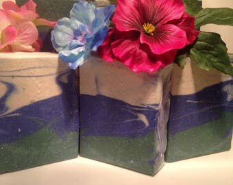 Pine scented goats milk soap