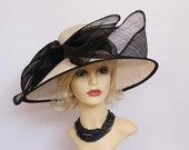 Authentic vintage classic formal hat, races, church, Ascot hat, wedding hat, mother of the bride hat