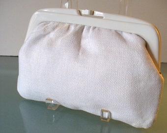 Made in Italy Linen Clutch Bag