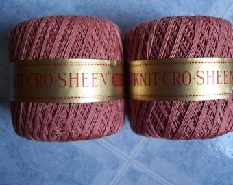 JP Coats Knit Cro Sheen,Crochet Cotton Thread,2 Balls - FREE SHIPPING