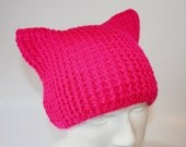 pussyhat hot pink for winter for custom order