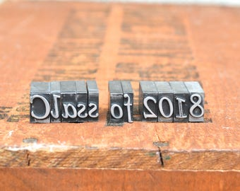 Ships Free - Class of 2018 - Vintage letterpress metal type collection - graduation, gift for graphic designer, gift for art student TS1035