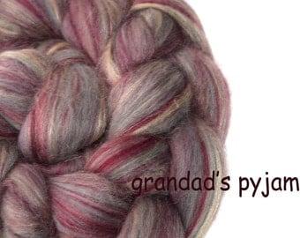 Blended top - Merino - Tussah silk - 100g/3.5oz - pink - GRANDAD'S PYJAMAS