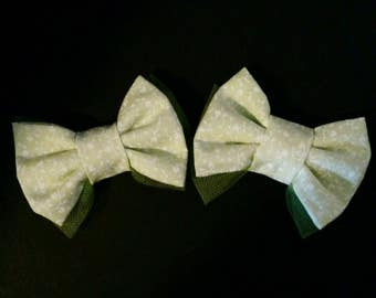 Flowery Green Bows