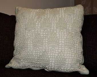 Pineapplepattern throw pillow case - Mint green and bright green - Size: 45*45cm - Handmade
