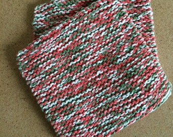 Hand Knit Cotton Pot Holders - Set of 2