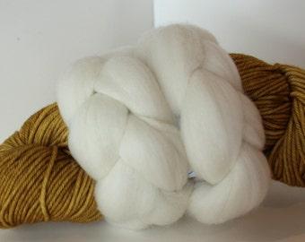 Thrummed MITTEN Kit - Mustard Gold/Natural cream- Hand dyed Merino yarn, roving and pattern