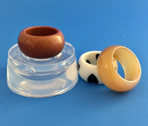 Mold Ring Size 67810 Clear Silicone Band Ring Molds Resin