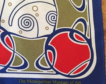 Limited Edition Vintage Metropolitan Museum of Art Silk Scarf