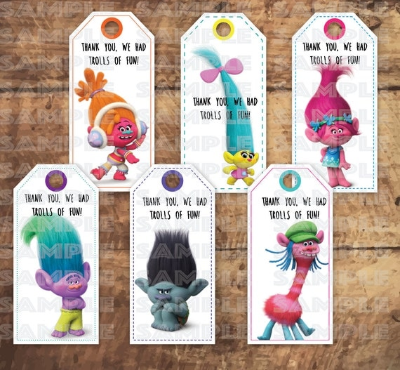 Trolls Loot Bag Tags