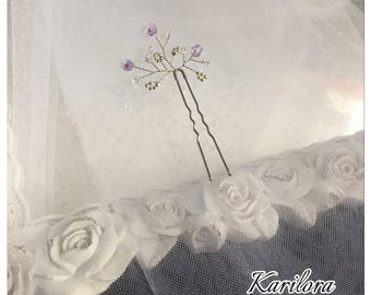 Lilac and silver Vine Hair Pin, Wedding Hair Accessories, Wedding, Bridesmaids, Prom Headpiece