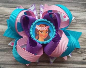 Moana Bow - Moana Hair clips - Moana Birthday Party - Princess Bow