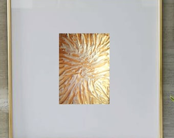 ACEO Gold Metallic Artist Trading Card Original Painting White Tiger USA Original Art Abstract Modern Contemporary Gift Free Shipping
