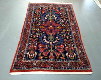 Persian Rug - 1990s Hand-Knotted Mahal Sarouk Rug (1508)
