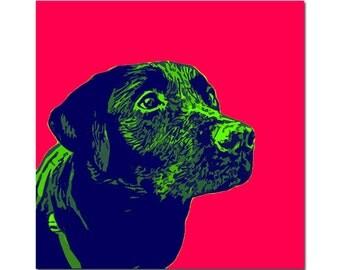 Custom pet portrait - Pop Art portrait with 2 / 3 colors - digital