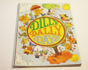 Vintage Coloring Book: Dilly Dally Days - Children's Coloring Book