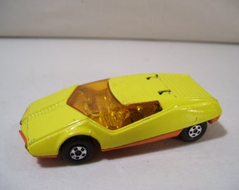 Vintage Matchbox Superfast Datsun 126X Yellow Die cast Car 1973, Lesney England, No 33