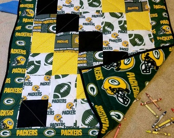 Green Bay Packers Quilt, Fleece and Cotton