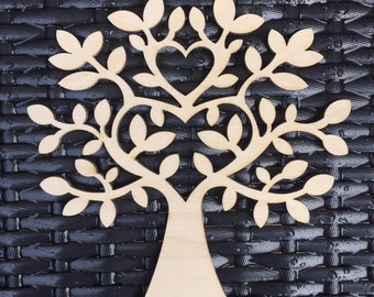 Laser Cut Wooden Tree perfect for picture frames