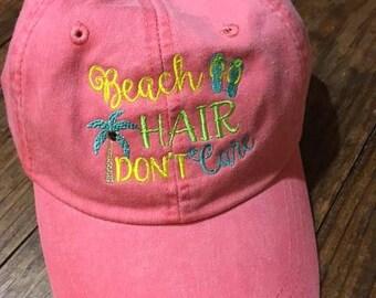 Beach Hair Don't Care Baseball Cap