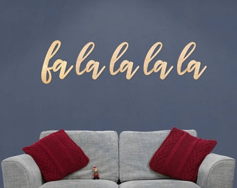 Copper Christmas Wallart Words Fa La La La La
