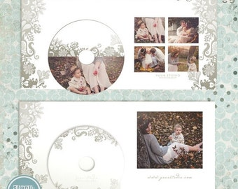 ON SALE Cd dvd Single Case, 2 cd/dvd Labels,Wedding Cd label,  psd templates - INSTANT Download