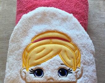 Ballerina hooded bath towel