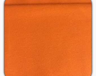Cotton Jersey fabric uni, orange 50 cm