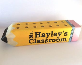 Teachers Gift Pencil Holder - Personalized Gift for teacher - Appreciation gift for teacher - classroom gift FREE SHIPPING