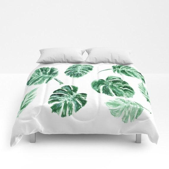 Monstera Leaf Comforter Palm Leaf Bedding Palm Leaf Duvet