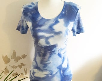 Blue clouds- vintage t-shirt