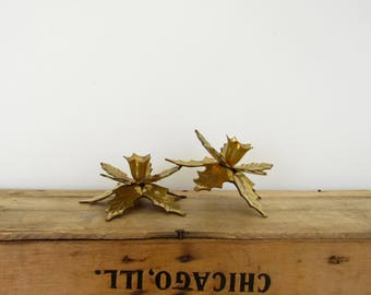 Holly Candle Holders