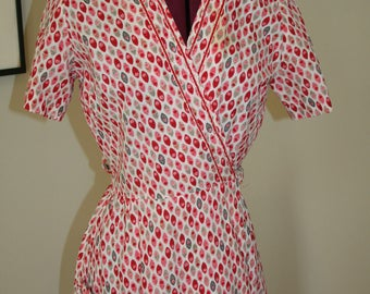 Adorable cotton wrap housecoat spring dress.  XS or S