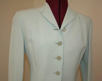 1940s 40s Mint Spring Suit XS S