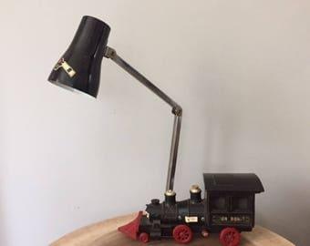 Vintage 1960's SWANK Japan Train light-Desk Lamp-Articulating Light