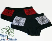 Ladies Peek A Boo Web Lace Panties - Custom Made - Briefs or Boyshorts